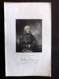 Gallery of Distinguished Americans C1835 Print. Joshua Barney